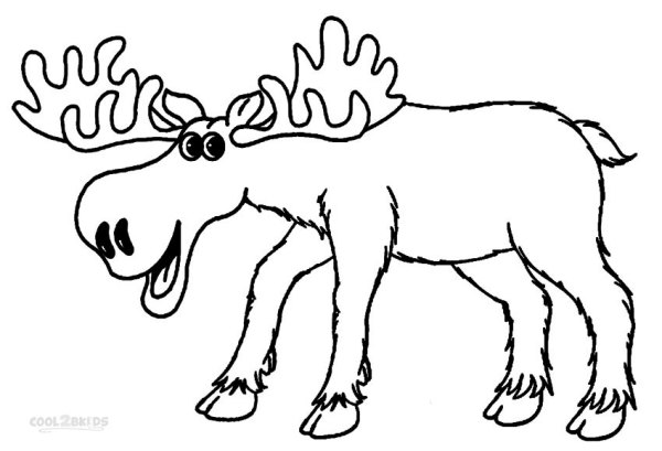 moose coloring page # 0