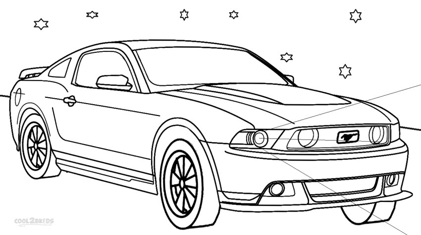 Free coloring pages of ford mustang cobra