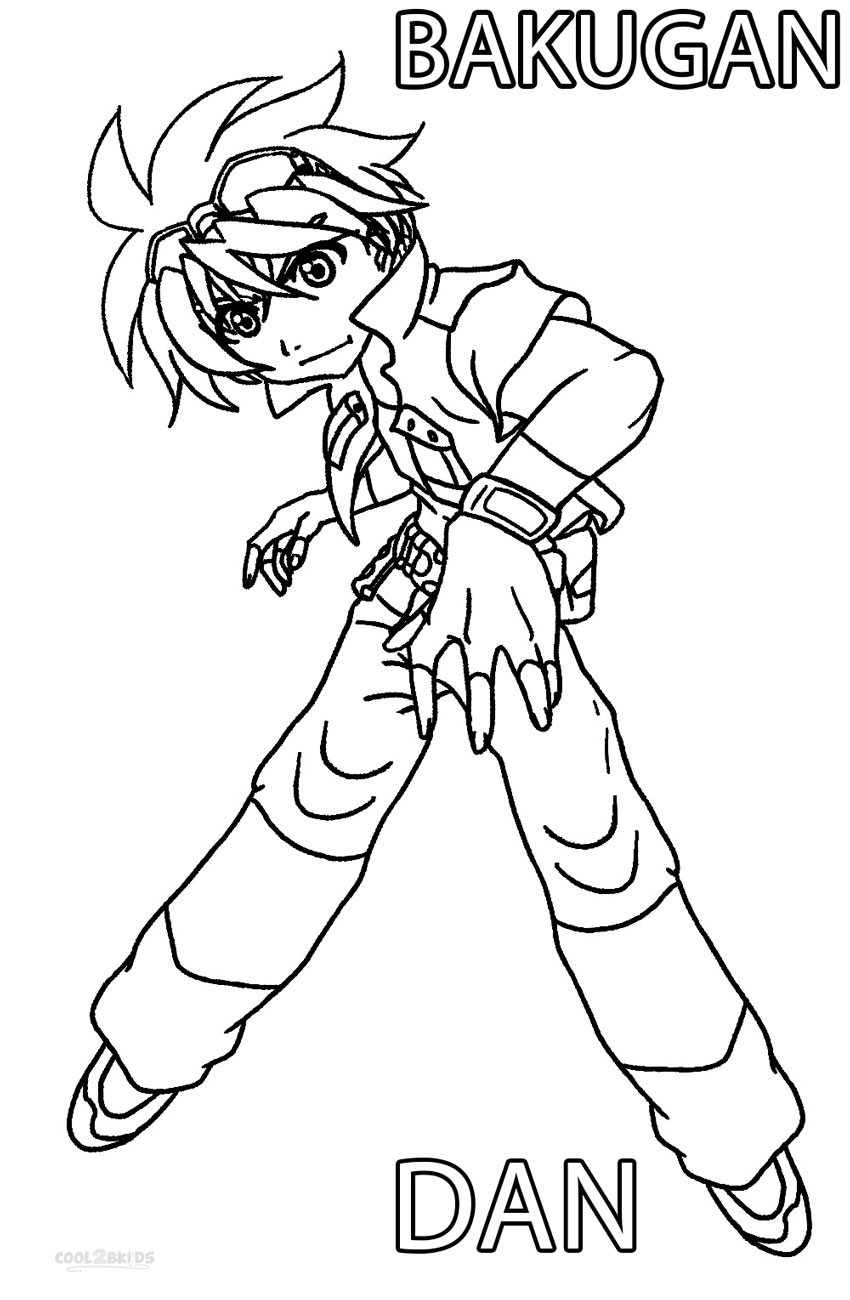 Printable Bakugan Coloring Pages For Kids
