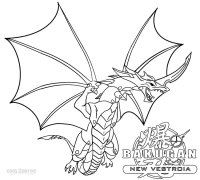 Bakugan Coloring Pages Dragon Free Printable Cartoons To