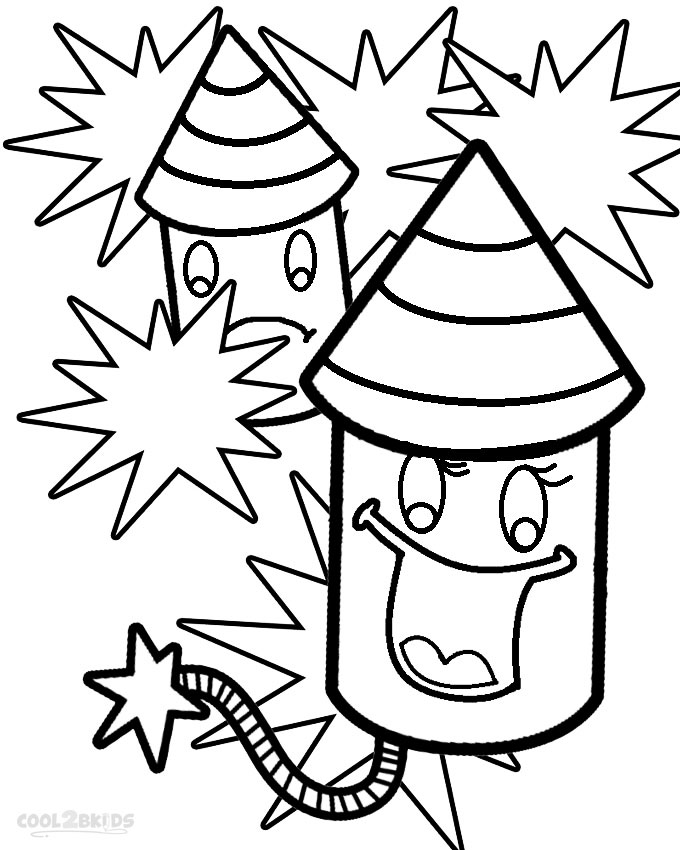 Free firework sheets coloring pages
