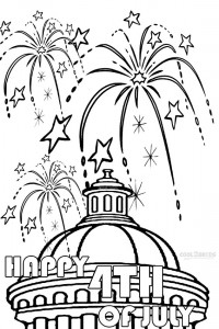 Printable Fireworks Coloring Pages For Kids