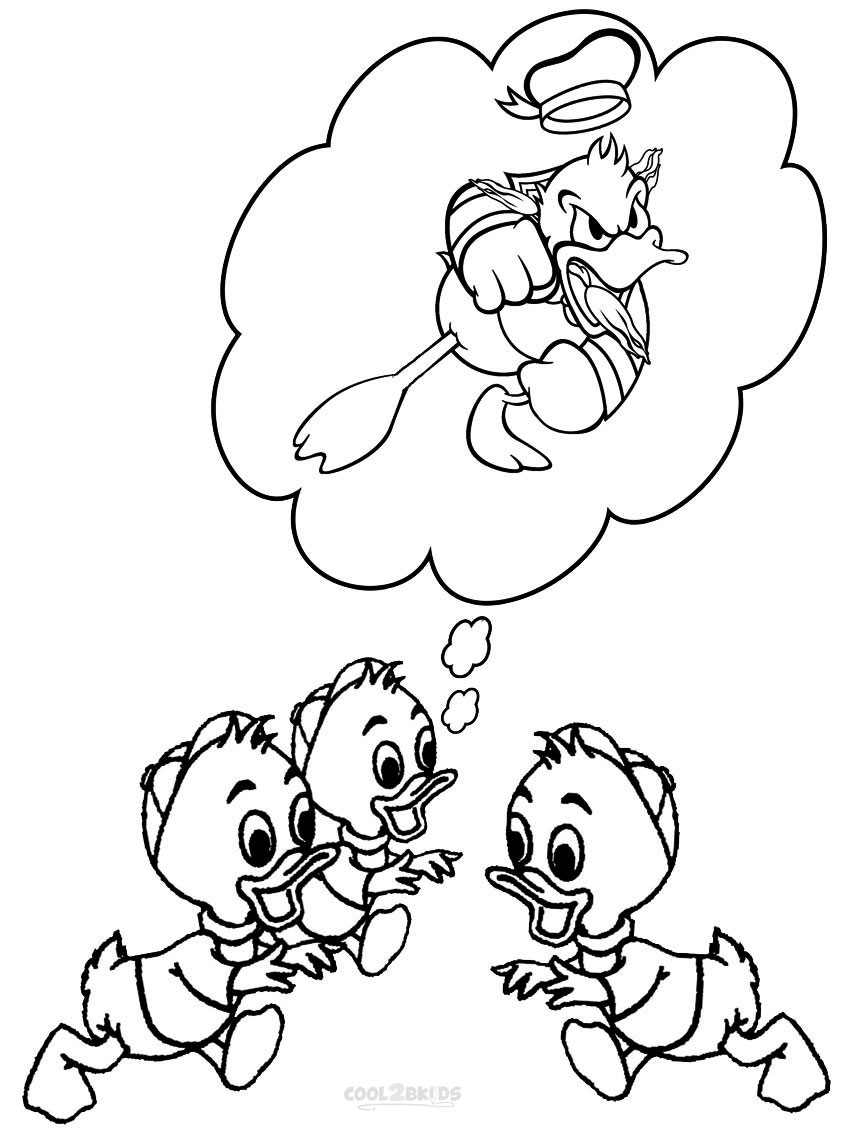Gangster Donald Duck Coloring Coloring Pages