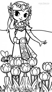 Printable Zelda Coloring Pages For Kids