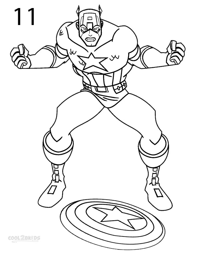 How to Draw Captain America (Step by Step Pictures