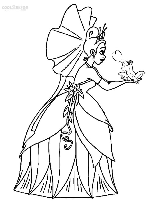 Printable Princess Tiana Coloring Pages For Kids