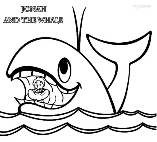 jonah and the whale colouring pages coloring page cartoon