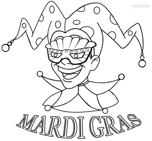 mardi gras coloring pages free printable # 2