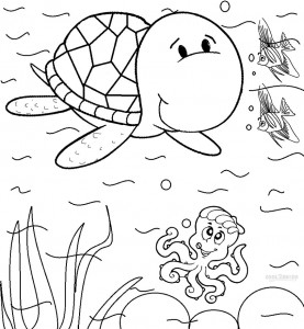 Printable Sea Turtle Coloring Pages For Kids