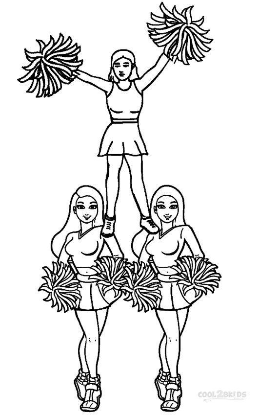 Cheerleading Printable Coloring Pages