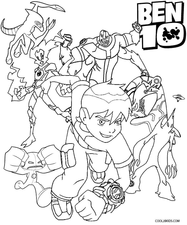 printable ben ten coloring pages for kids  cool2bkids