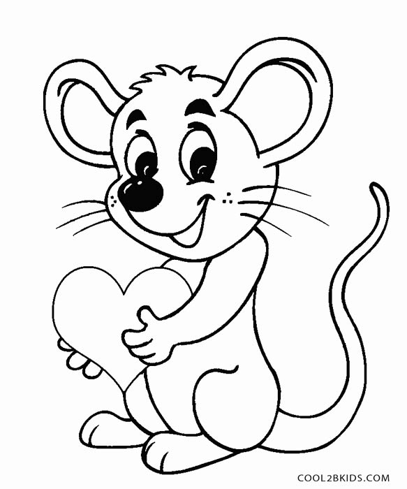 Printable Mouse Coloring Pages For Kids