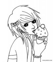 printable emo coloring pages