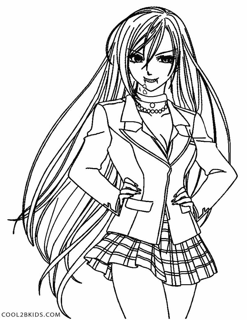 Date A Live Anime Coloring Page Coloring Pages