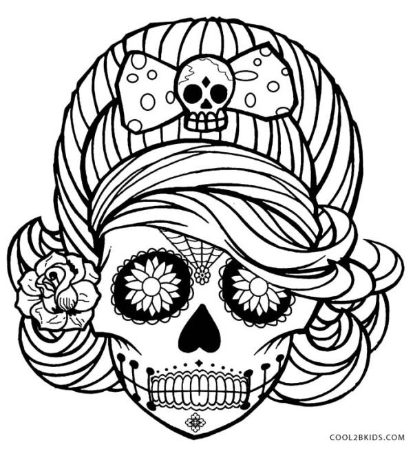 skulls coloring pages # 2