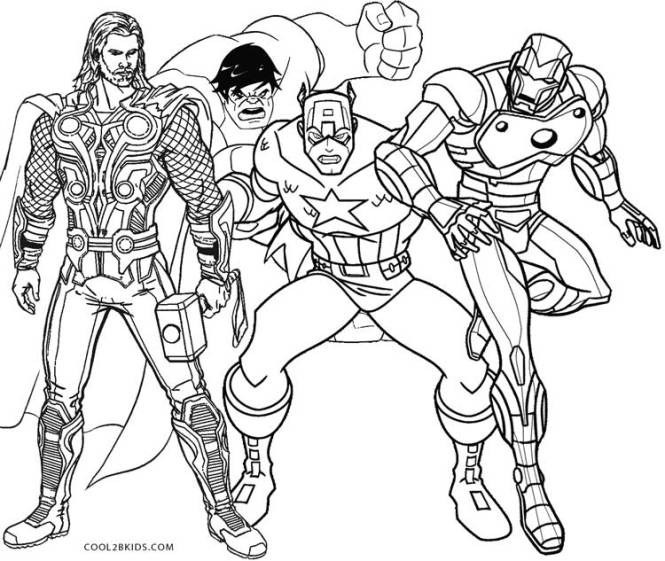 Super Hero Squad Thor Coloring Pages