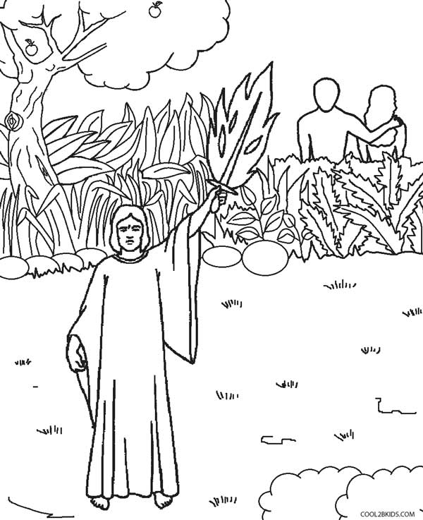 Printable Adam and Eve Coloring Pages For Kids
