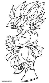 kid goku coloring pages | Murderthestout