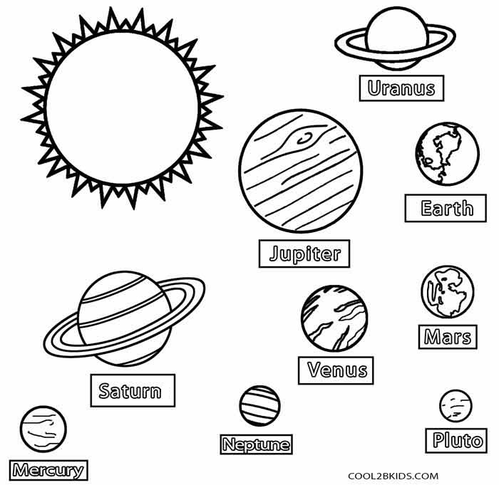 Printable Planet Coloring Pages For Kids