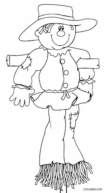 Scarecrow Head Coloring Page Sketch Coloring Page