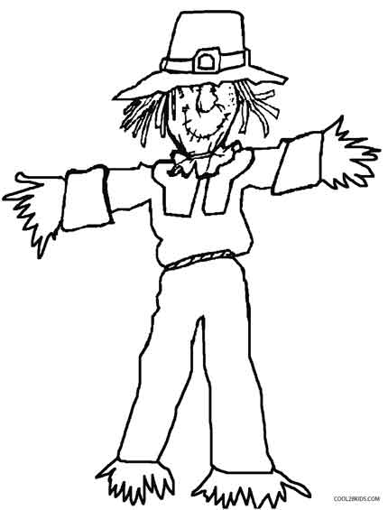 Scarecrow Face Coloring Page Coloring Pages
