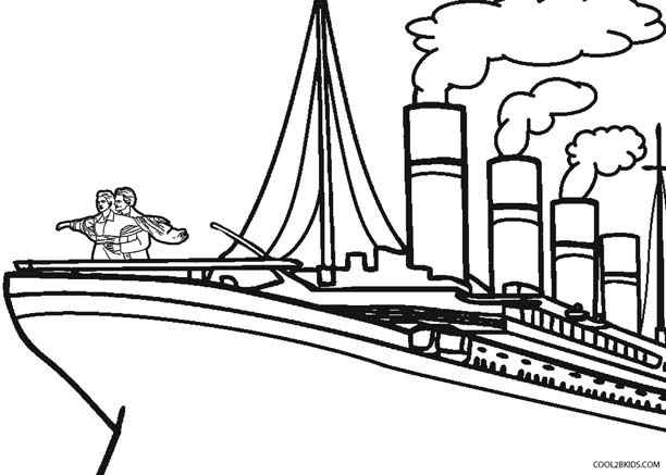 Sinking Ship Activity. Printable Titanic Coloring Pages