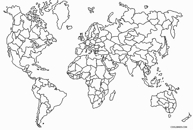 printable world map coloring