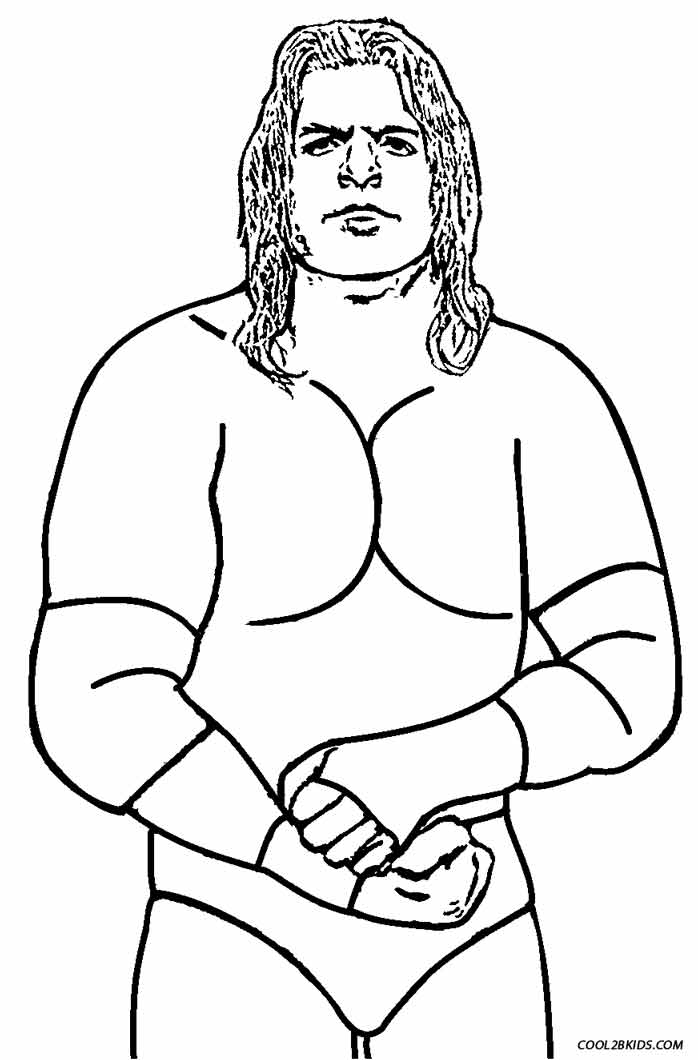 Printable Wrestling Coloring Pages For Kids