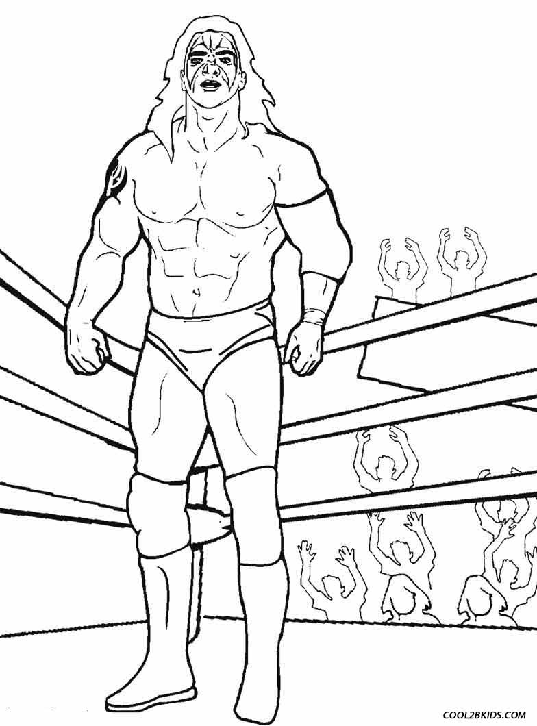 Wrestling Ring Coloring Pages Coloring Page