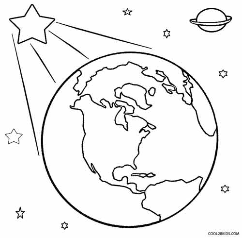 Printable Earth Coloring Pages For Kids