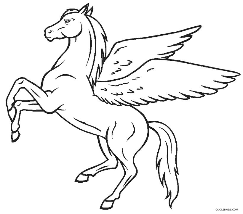 Free coloring pages of pegasus world