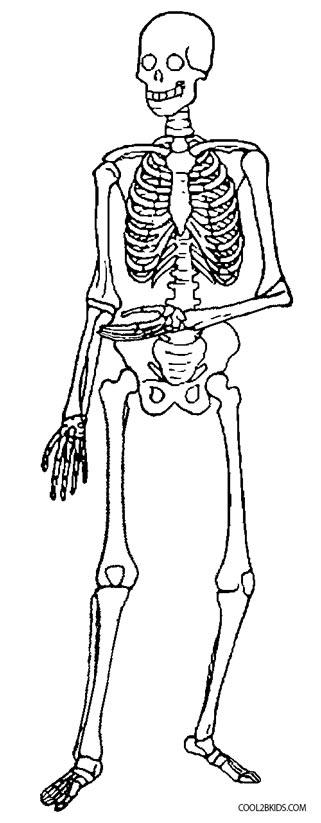Printable Skeleton Coloring Pages For Kids