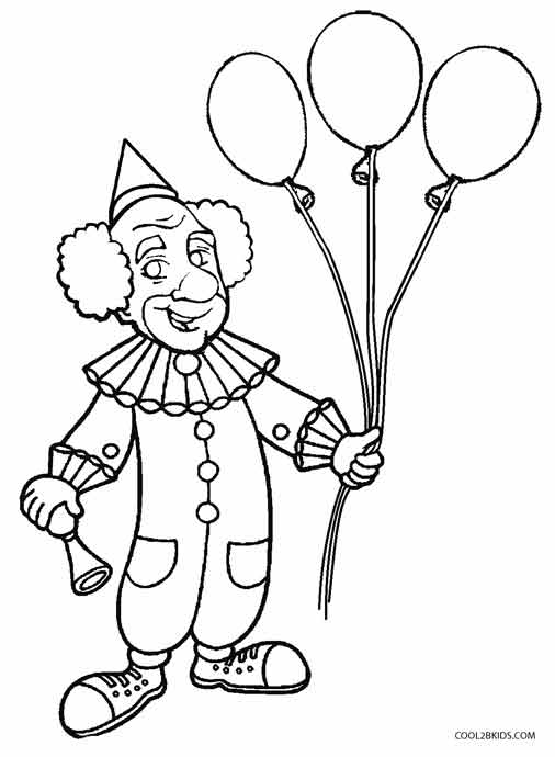 printable clown coloring pages