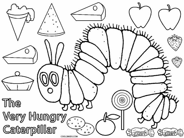 Page Coloring Caterpillar Insect