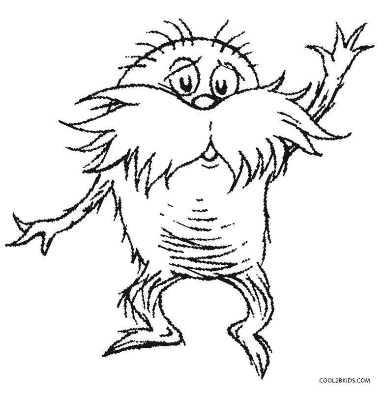 Dr Seuss Lorax Coloring Page