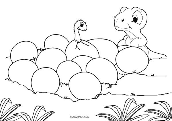 baby dinosaur coloring pages # 9