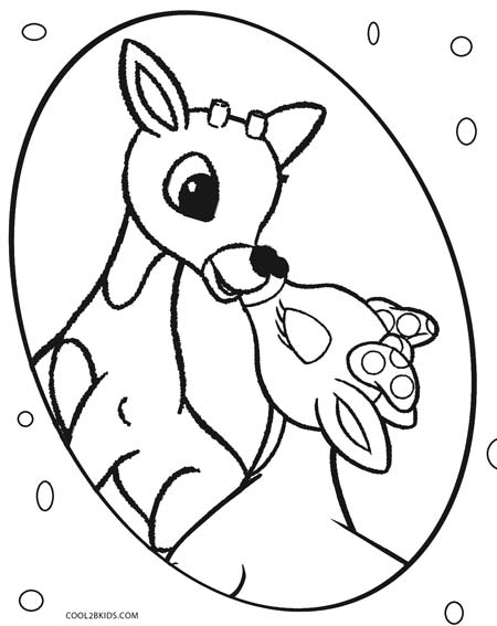 Printable Rudolph Coloring Pages For Kids