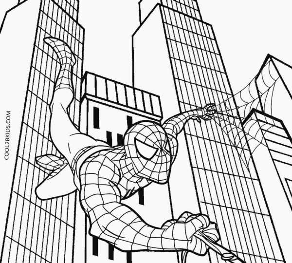 coloring pages of spiderman # 9