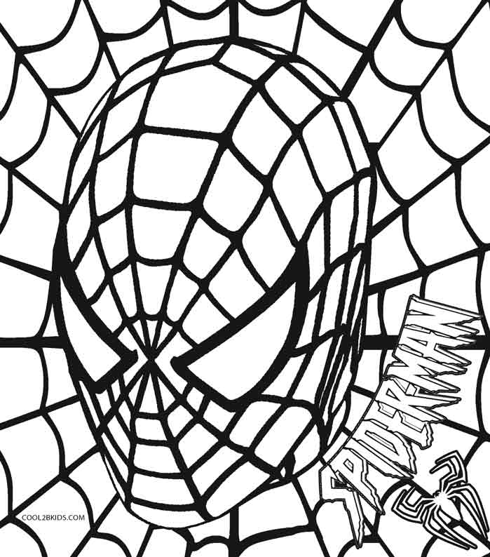 Free Coloring Pages Of Spiderman Emblem