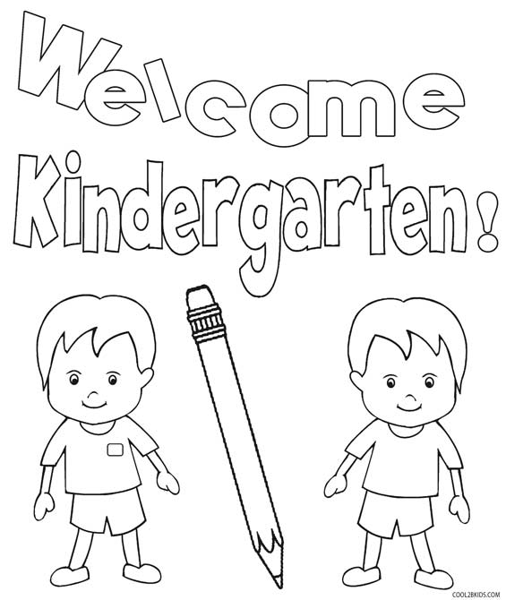 Free coloring pages of first day of kindergarten