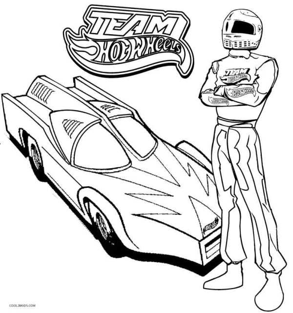 hot wheel coloring pages # 2