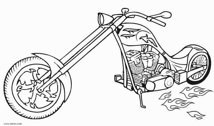 Magnificent Motorbike Coloring Pages