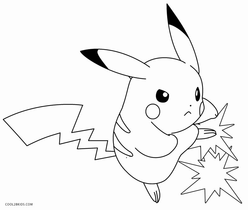 Pikachu Coloring Pages Cool2bkids