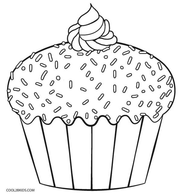 cupcakes coloring pages # 10