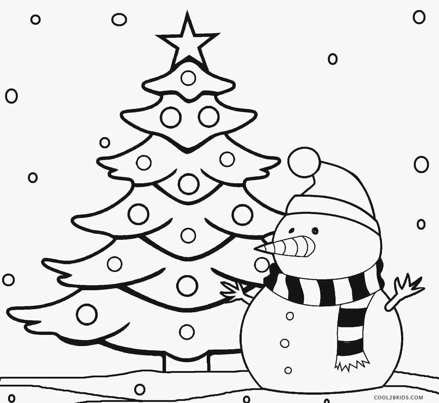 Printable Christmas Tree Coloring Pages For Kids | Cool2bKids | christmas tree coloring pages