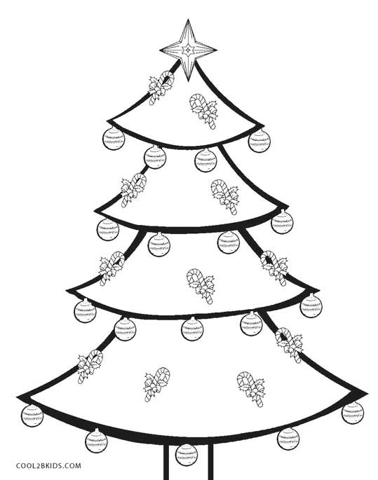 Printable Christmas Tree Coloring Pages For Kids   Cool2bKids   christmas tree colouring pages