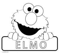 Elmo Face Coloring Page Sketch Coloring Page