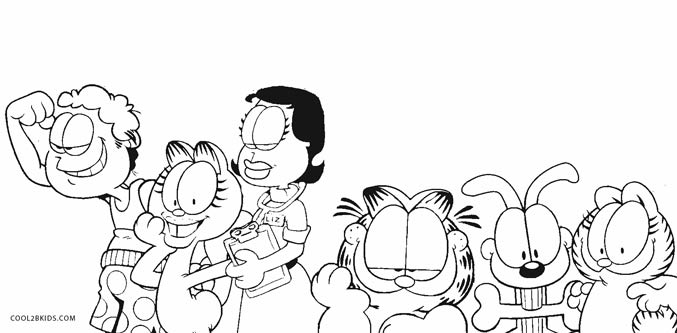 Garfield 2 Coloring Page