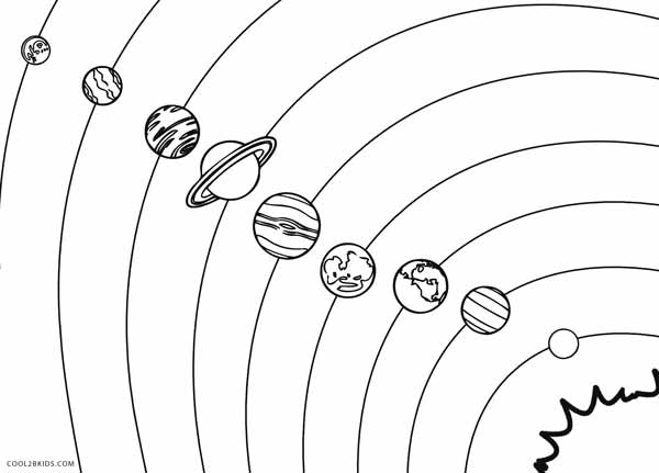 Printable Solar System Coloring Pages For Kids
