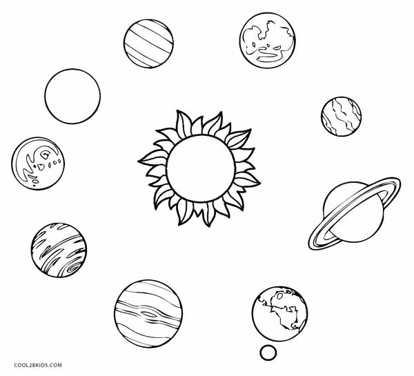 Are Solar System Coloring For Line Coloring Pages
